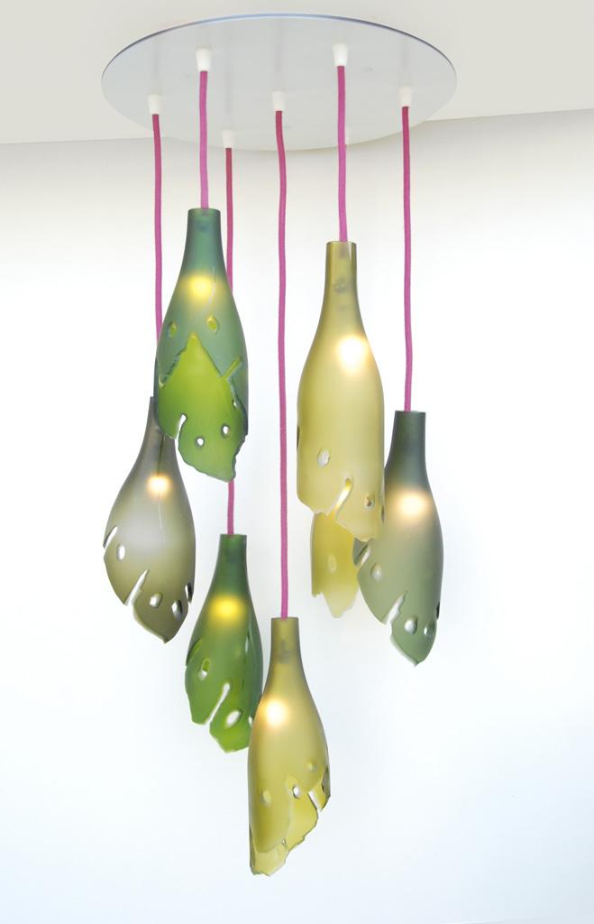 Claire Lange-Luminaire suspension 7 feuilles